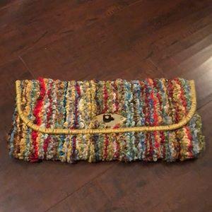 Handbags - 🔥Vintage 1960's Carpet Clutch Bag